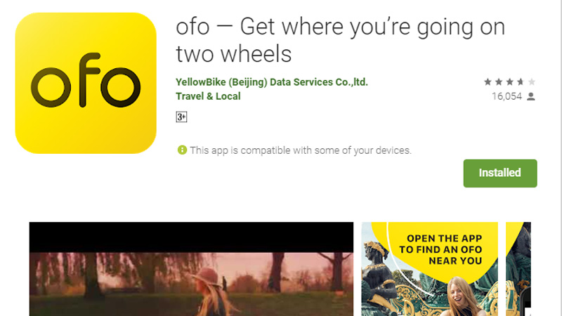 aplikasi ofo di google play (screenshot)